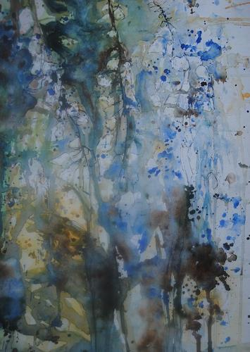 Christine Steeb, Nach dem Regen, Plants, Plants: Flowers, Abstract Art, Expressionism