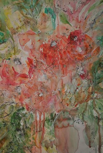 Christine Steeb, N/T, Plants, Plants: Flowers, Contemporary Art