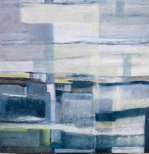 Rosemarie Salz, Flusslandschaft, Abstract art, Abstract art, Abstract Art, Expressionism