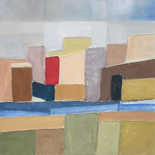 Rosemarie Salz, das kleine Rot 3, Abstract art, Cubism, Expressionism
