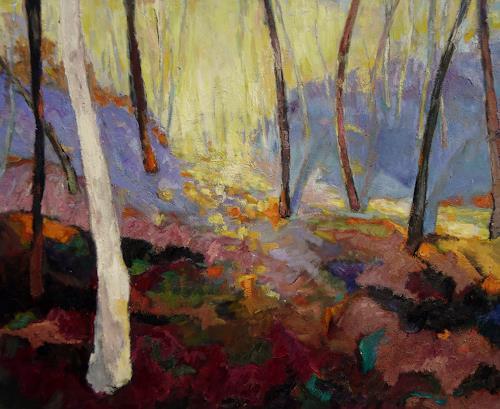 Monika Dold, Gleissendes Licht, Landscapes: Hills, Landscapes: Autumn, Abstract Art