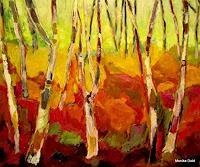 Monika-Dold-Landscapes-Autumn-Plants-Trees-Modern-Age-Abstract-Art
