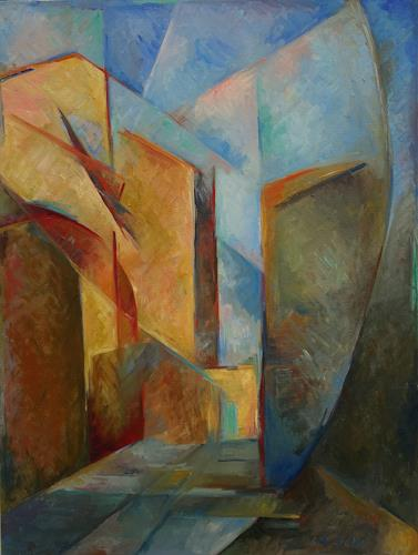 Monika Dold, Belforte, Abstr. II, Buildings: Houses, Architecture, Impressionism, Expressionism