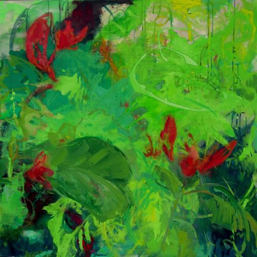 Monika Dold, Bauhinia galpinii, Abstract art, Landscapes: Tropics, Action Painting, Abstract Expressionism