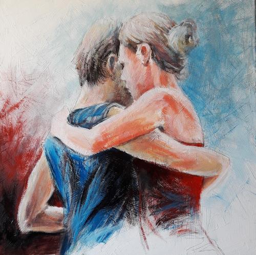 Caroline Roling, abrazo 6, People: Couples, Contemporary Art