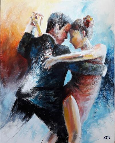 Caroline Roling, milonga 2, People: Couples, Contemporary Art