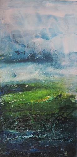 ElisabethFISCHER, o. T., Landscapes, Landscapes: Spring, Abstract Art, Abstract Expressionism