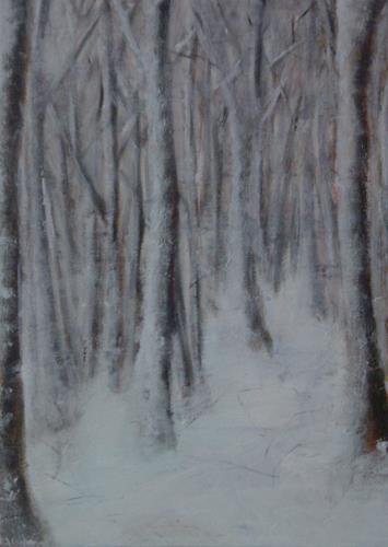 ElisabethFISCHER, Winterwald, Plants: Trees, Abstract Art