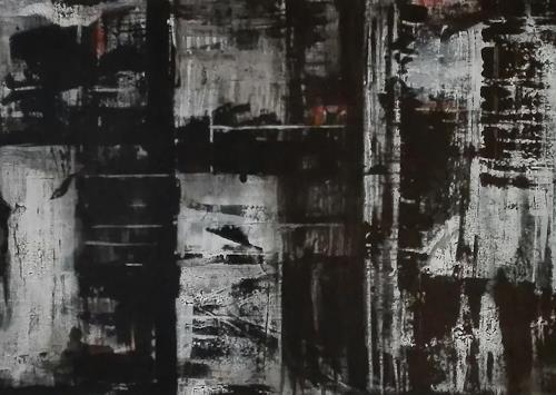 ElisabethFISCHER, schwarz/weiß, Abstract art, Abstract Art