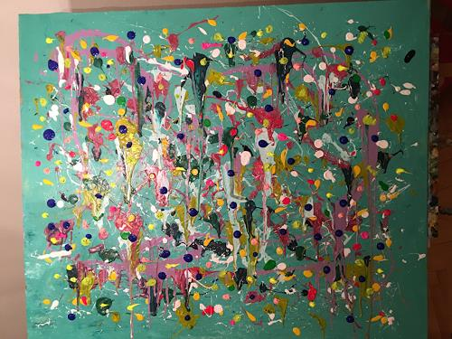 Vicky Fuchs, Colorful, Abstract art, Abstract art, Abstract Art
