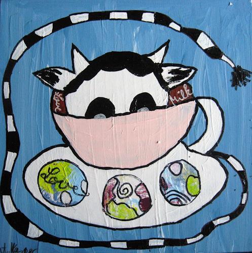Andrea Kasper, Dann bin ich in die Tasse geklettert..., Humor, Miscellaneous, Minimal Art