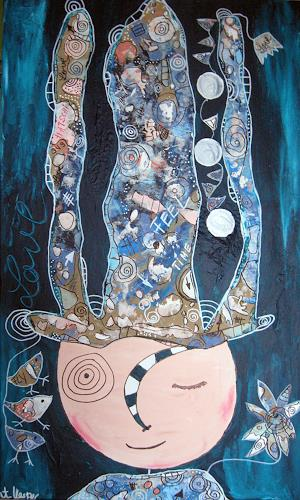 Andrea Kasper, Frau Schlüter`s Gedankendiät, Burlesque, Fantasy, Abstract Art, Expressionism