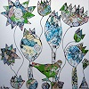 Andrea Kasper, Heute bin ich gerne Huhn, Fantasy, Animals, New Image Painting