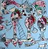 Andrea Kasper, Große Träume vom kleinen Hund, Burlesque, Animals, New Image Painting