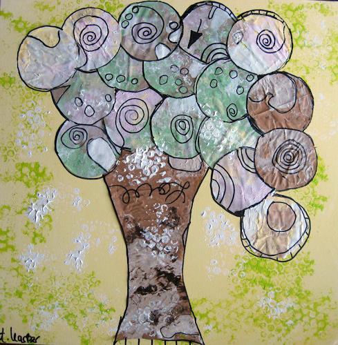 Andrea Kasper, Türsteher in Gelb, Plants, Fantasy, New Image Painting
