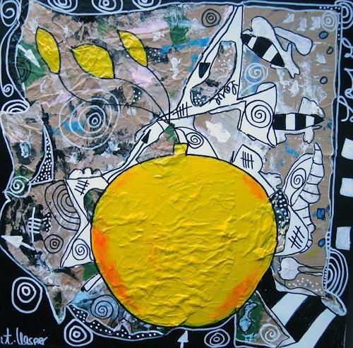 Andrea Kasper, Viel GELB wenig BLAU, Nature, Harvest, Abstract Art, Abstract Expressionism
