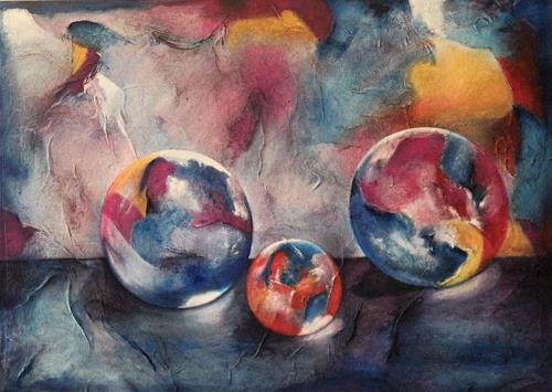 Beatrice Gugliotta, Drei mal rund, Still life, Fantasy, Modern Age, Expressionism
