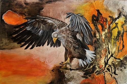 Beatrice Gugliotta, Der Adler, Animals: Air, Nature: Air, Modern Age, Abstract Expressionism