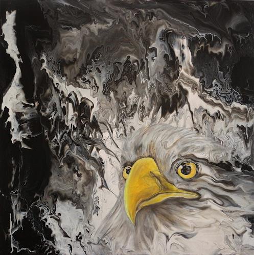 Beatrice Gugliotta, Adlerblick, Animals: Air, Nature, New Figurative Art
