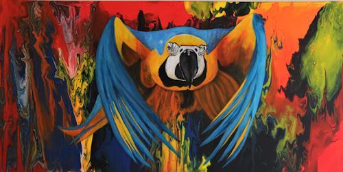 Beatrice Gugliotta, Papagai Zuzumi, Animals: Air, Nature, New Figurative Art, Expressionism