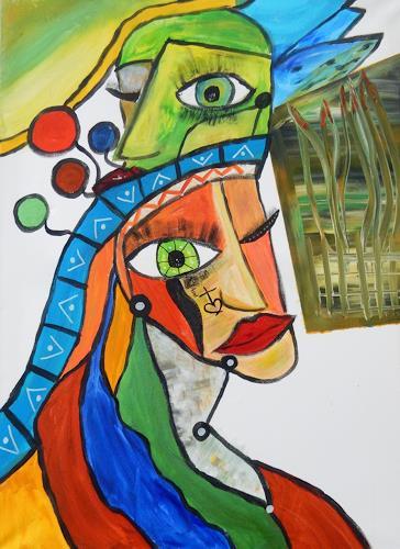 BRIGITTE, SO, Burlesque, Abstract art, Abstract Art