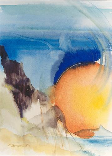 Claudia Jung, Mango - La Gomera, Miscellaneous Landscapes, Surrealism, Expressionism