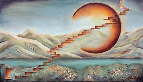 Angelina Casadei, Stairs to heaven, Fantasy, Symbol, Surrealism