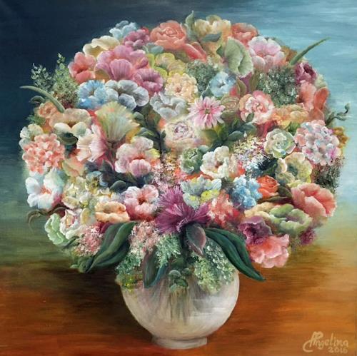 Angelina Casadei, Flowermagic, Plants, Poetry, Art Déco, Expressionism