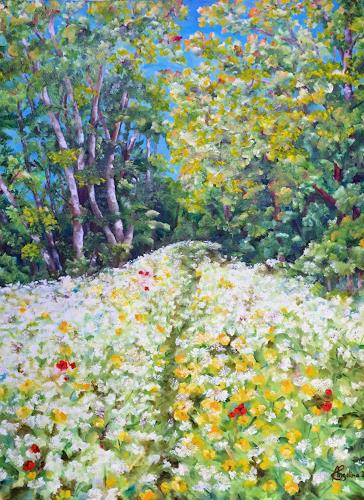 Angelina Casadei, Blütenteppich, Landscapes: Spring, Poetry, Expressionism