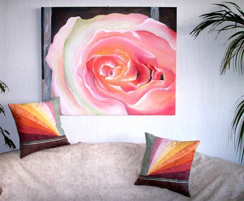 Angelina Casadei, Parfum de Rose avec des coussins Design assortis, Plants: Flowers, Symbol, Romanticism