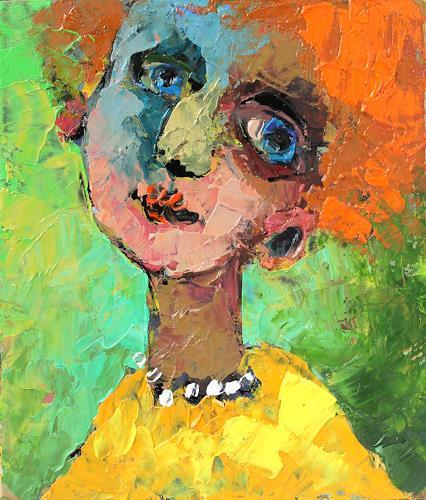 Gennady Karabinskiy, Karton Nr. 141, People: Women, Expressive Realism, Expressionism