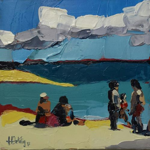 Hedwig Oeldig, Strand auf Fuerteventura, Landscapes: Beaches, Contemporary Art, Expressionism