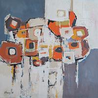 Angela-Fusenig-1-Abstract-art-Plants-Flowers-Modern-Age-Expressionism-Abstract-Expressionism