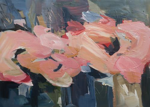Angela Fusenig, Listen to your Heart, Plants: Flowers, Abstract art, Contemporary Art, Expressionism