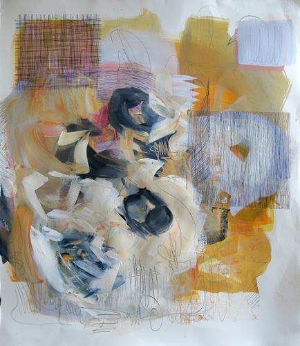Angela Fusenig, O.T., Abstract art, Plants: Flowers, Non-Objectivism [Informel]