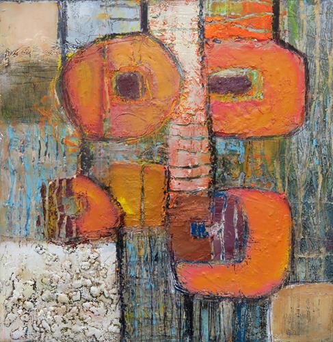 Angela Fusenig, O.T.  Serie Begegnungen, Abstract art, Plants: Flowers, Abstract Art