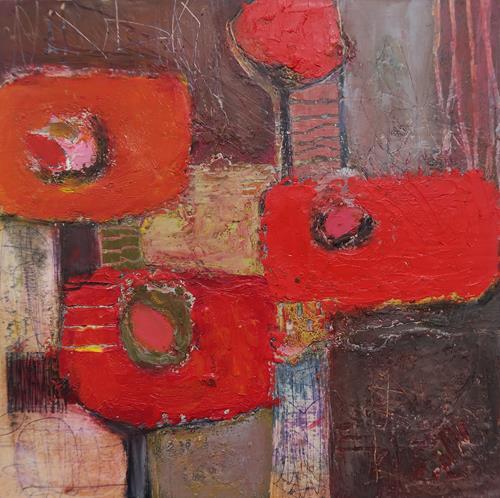 Angela Fusenig, O.T. - Serie Begegnungen, Abstract art, Plants: Flowers, Contemporary Art