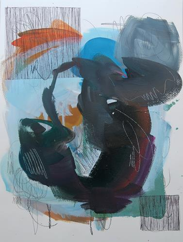 Angela Fusenig, O.T., Serie Linie trifft Fläche, Miscellaneous, Abstract art, Contemporary Art