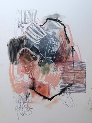 Angela Fusenig, O.T., Abstract art, Miscellaneous, Non-Objectivism [Informel], Abstract Expressionism