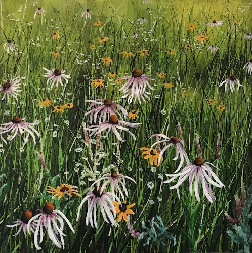 Rosa Gasche, Himmelsapotheke, Plants, Landscapes: Summer, Expressive Realism, Expressionism