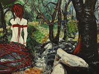 Claudia-Erbelding-People-Women-Nature-Wood-Contemporary-Art-Post-Surrealism