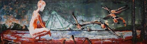 Claudia Erbelding, planetarII, Olympic Islands, Washington, Ruby Beach, People, Landscapes: Sea/Ocean, Post-Surrealism