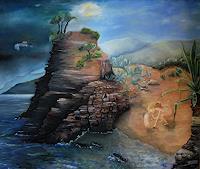 Claudia-Erbelding-People-Children-Landscapes-Sea-Ocean-Modern-Age-Expressive-Realism
