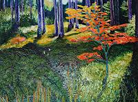 Claudia-Erbelding-Landscapes-Autumn-People-Women-Modern-Age-Impressionism-Post-Impressionism