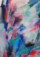 Gisela-K.-Wolf-Plants-Flowers-Modern-Age-Abstract-Art-Non-Objectivism--Informel-