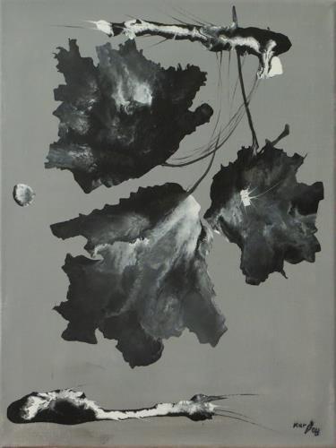 Karin Ott-Hofmann, Trauerblüten, Plants, Plants: Flowers, Contemporary Art, Expressionism