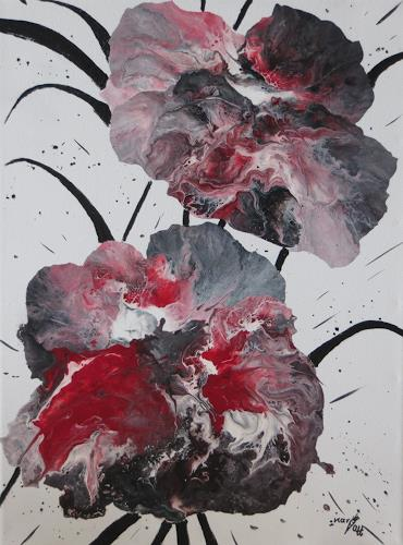 Karin Ott-Hofmann, Magmablüten, Abstract art, Abstract Art, Abstract Expressionism