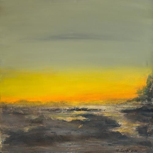 Maria Svatos, Dämmerung - 6, Landscapes, Abstract art, Contemporary Art, Expressionism