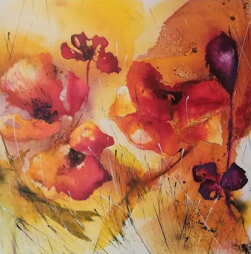 Nicole Glück, flower power, Plants: Flowers, Abstract Art, Expressionism