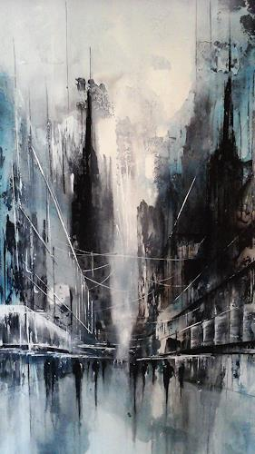 Nicole Glück, Stadtgespräch, Interiors: Cities, Abstract art, Abstract Art, Abstract Expressionism